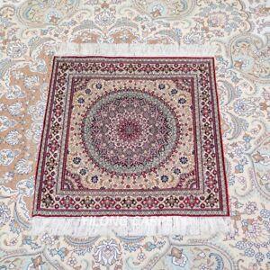 YILONG 2'x2' Handmade Silk Square Tapestry High Density Classic Carpet TJ191H