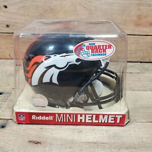 NEW Riddell Mini Helmet, DENVER BRONCOS, NFL Football, 1/4 Scale