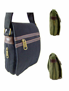 EXTRA STRONG CANVAS MESSENGER / RECORD  SHOULDER  MANBAG BLACK GREEN OUTDOORGEAR