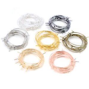 3 Sizes Hoop Earrings Hooks Blanks Clasps Wire Jewellery Findings Fittings Base