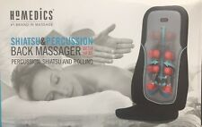 Homedics Shiatsu Percussion or Rolling Massager Cushion w/Heat Chair Back Grey
