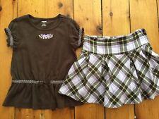 Gymboree Girl 6 COWGIRLS AT HEART Purple Brown Top Plaid Skirt/skort Fall HTF