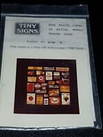 N Gauge Tiny Signs Photo of Enamel Advert Signs grocery adverts
