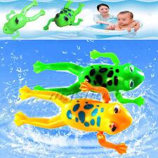 Baby Bathroom Tub Bathing Toy Clockwork Wind UP Plastic Bath Frog Pool For kids