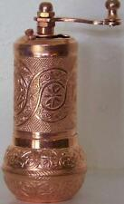 "Reddish Copper Finish 4"" Metal Turkish Pepper Salt Spice Grinder Mill NEW"