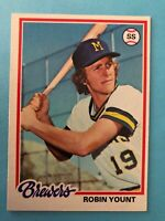 1978 Topps Robin Yount Card #173 Milwaukee Brewers HOF