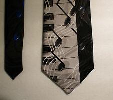"Keyboard Tie Music Notes Piano Black Men's Necktie Steven Harris 59"" x 3 3/4"""
