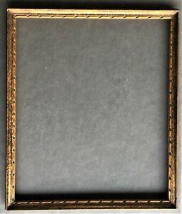 vintage 7x9 Art Deco wood dark bronze color frame cadre ca 1925 + glass