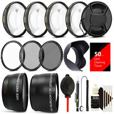 58MM Lens Filter Accessory Kit for CANON EOS Rebel T6i T6 T5i T5 T4i T3i SL1