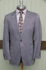 f49455617 Gucci Gray 100% Wool Small Check Two Button Blazer Coat Switzerland SZ 40R