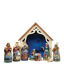 Creek 9-Piece Mini Nativity Set Stone Resin Figurine, 9.75""