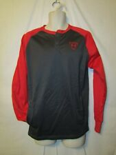 mens under armour coldgear baseball henley pullover S nwt gray red