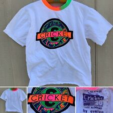 Cricket Brasil France Neon Graphics Tee Neon Neck  Cricket By Evelyn T-Shirt S ?