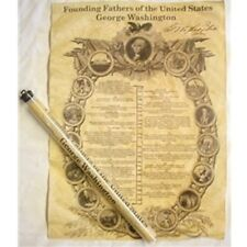 FOUNDING FATHERS: GEORGE WASHINGTON DOCUMENT PARCHMENT REPRODUCTION IN TUBE NEW