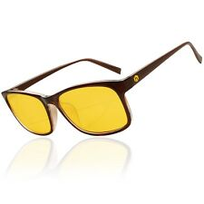 NEW Hex Gaming Glasses Brown Anti Glare Yellow Lens Gaming PC Gamers Blue Light