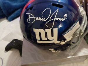 Daniel Jones Autograph Helmet ny giants c.o.a   beckett   low as i can go