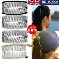 Women Vintage Banana Hair Clip Christmas Hair Accessory Stretchable Banana Combs