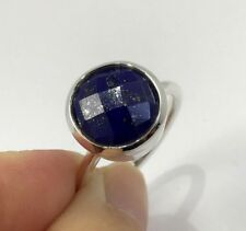 4c5d57344 GENUINE NATURAL LARGE LAPIS LAZULI 15.3CT RING SOLID 925 STERLING SILVER