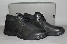NEW Men's Hush Puppies Paulsen Size 9 Medium Black Casual Tie Ankle Boot / Shoe