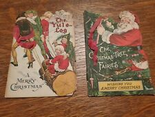 Antique Early 1900's Christmas Card Booklets. See Details