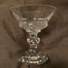 Set of 9 Val St Lambert Josephine Charlotte Martini or Sherbert Glasses