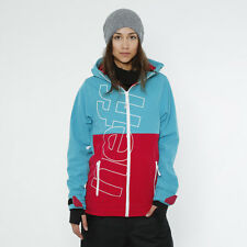 Womens Neff Daily Softshell Jacket XS SOFT SHELL TEAL MAROON SNOWBOARD SKI COAT
