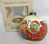 MISS PIGGY AND KERMIT 1980 Vintage Hallmark Christmas Ornament Keepsake Box RARE