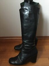 Stiefel Wedges Riccardo Cartillone 38 UK5 Blogger Leder Leather Keilabsatz