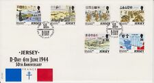 Unaddressed Jersey FDC First Day Cover 1994 D-Day Anniversary Set 10% off 5