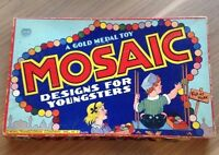 Mosaic Designs for Youngsters Vintage 1940 Transogram Art Game A Gold Medal Toy
