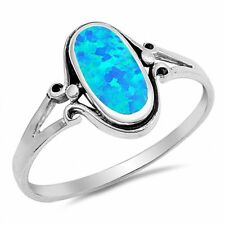 Fashion Oval Ring 925 Sterling Silver Choose Color