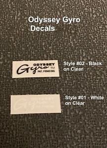 ODYSSEY GYRO ROTOR DECALS - Choice of Black or White, Or Mix-1 Pair