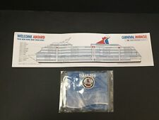 CARNIVAL Cruise Line MIRACLE 2018 VIFP Pin with Ship Map