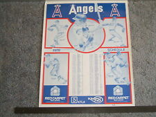 NOLAN RYAN- KTLA/RED CARPET/KMPC- ANGELS SCHEDULE POSTER- 1978- 19X25""