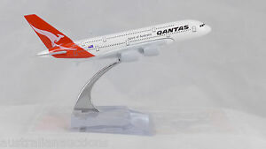 Qantas  Diecast A380 Metal Plane Aircraft Models On Stand 14Cm  Aerocraft