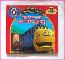 CHUGGINGTON BOOK  BREWSTER GOES BANANAS Story 6 - HARDCOVER over 40 Stickers NEW