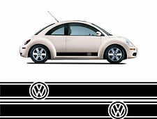 VW Volkswagen Side Stripes x2 Beetle Golf  Polo Scirocco Car Stickers / Decals