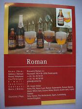 Belgian Beer Note Tear Sheet Ad ~*~ Brouwerij ROMAN Ename Abbey ~ Oudenaarde, BE
