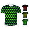 Mode Herren Sommer T-Shirt Rundhals Kurzarm 3D Geometric Print Tee Tops SH
