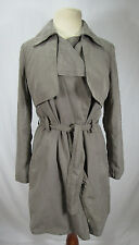 Banana Republic womens small trench coat jacket gray soft belted lined CUTE LOOK