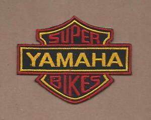 NEW 2 5/8 X 3 1/2 INCH SUPER YAMAHA BIKES IRON ON PATCH FREE SHIPPING