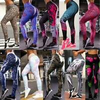 Womens Butt Lift Yoga Pants High Waist Leggings Ruched Workout Booty Up Trousers
