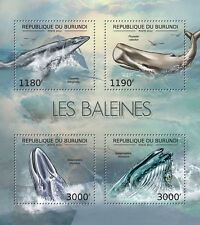 Whales Marine Life sea mammals Burundi 2012 m/s Sc.1198 MNH #BUR12625a