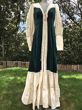 Vintage Jessica's GUNNE SAX Festival Renaissance Velour & Cotton Prairie DRESS 7