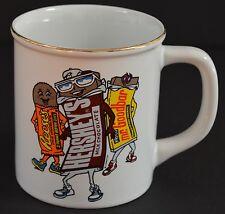 Hershey's Mr Goodbar Reese's Chocolate Bar Guys Coffee Mug Gold Rim 1993 Tea Cup
