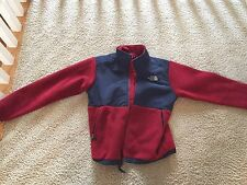 North Face Jacket Fleece Youth Size Large Red And Navy Blue New