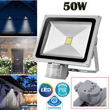 LED Motion Sensor Security Outside Wall Light Night Lamp Garage PIR Floodlight
