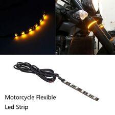 Bande lumineuse légère de clignotant flexible ambre de la moto 1Pc 6 LED