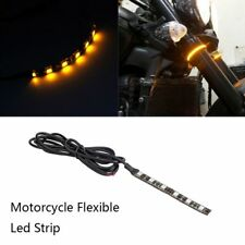 Flexible Mini Strip Led Motorcycle Turn Signal Universal Amber Light Strip 6 LED