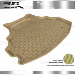 All Weather Cargo Liner Fits 08-12 Honda Accord Tan  Rubber